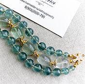 Украшения handmade. Livemaster - original item Bracelet Fluorite Natural stones Zircons. Handmade.