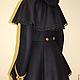 Зимнее пальто в стиле Милитари со съемной пелериной