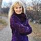 Верхняя одежда ручной работы. Куртка-жакет валяная Виолетта. Марина Власенко. Ярмарка Мастеров. Жакет валяный, волокна вискозы