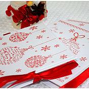 Сувениры и подарки ручной работы. Ярмарка Мастеров - ручная работа Конверт для диска новогодний. Handmade.