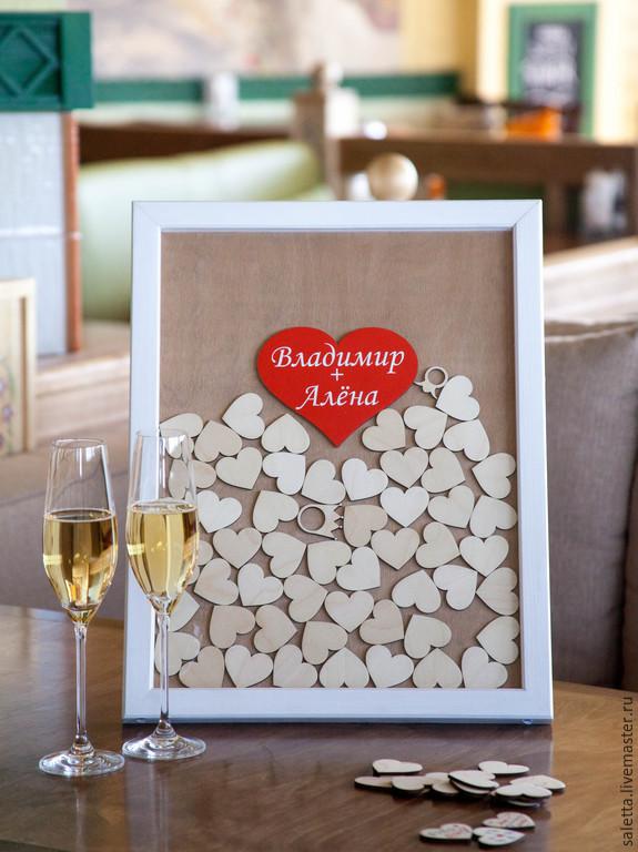 Открытка с пожеланиями на свадьбу своими руками