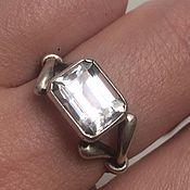 Винтаж ручной работы. Ярмарка Мастеров - ручная работа Топаз, винтажное серебряное кольцо. Handmade.