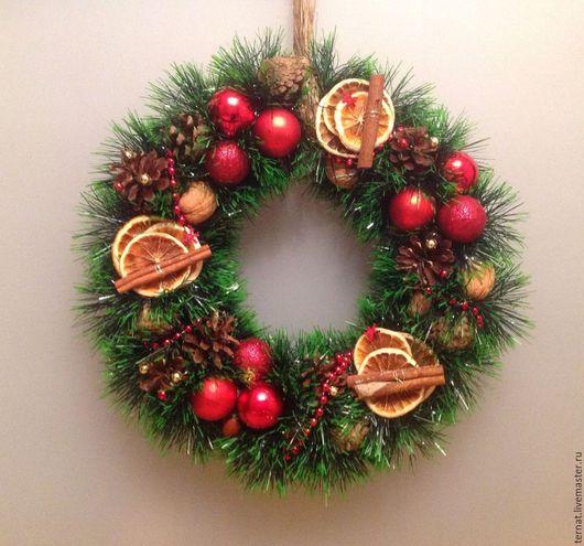 Новогодний венок или Рождественский венок. Новый Год, Рождество. Венок. Подарок. Купить