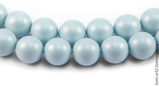 Для украшений ручной работы. Ярмарка Мастеров - ручная работа. Купить 8мм Pastel Blue Жемчуг Сваровски Swarovski Perl 10 шт. Handmade.