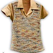 """Одежда ручной работы. Ярмарка Мастеров - ручная работа Вязаный жилет для бохо стиля """"По ажурным волнам"""". Handmade."""