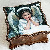 """Для дома и интерьера ручной работы. Ярмарка Мастеров - ручная работа Короб """"Мой ангелок"""". Handmade."""