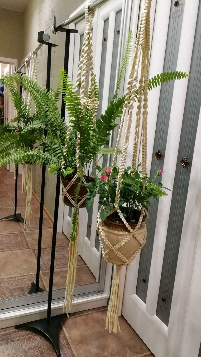 Planters macrame, Panel macramé, Staraya Kupavna,  Фото №1