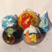 Подарки к праздникам ручной работы. Ярмарка Мастеров - ручная работа Елочные шарики на заказ. Handmade.