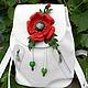 """Рюкзаки ручной работы. Заказать """"Белый манящий"""" рюкзак кожаный. (Alen-LEU) Луценко Елена Умрзаковна. Ярмарка Мастеров."""