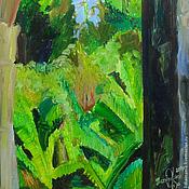 Картины и панно ручной работы. Ярмарка Мастеров - ручная работа Картина. Абхазия. На старой станции (бананы). Handmade.