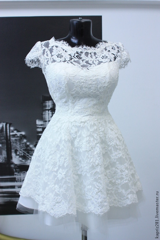 short wedding dress Alice – shop online on Livemaster with shipping ...
