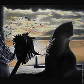 Картины и панно ручной работы. Ярмарка Мастеров - ручная работа Летний вечер (картина). Handmade.