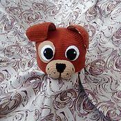 Работы для детей, handmade. Livemaster - original item Dog - hat knitted. Handmade.