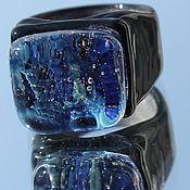 """Украшения ручной работы. Ярмарка Мастеров - ручная работа Кольцо  """"Волшебная чешуя""""форма куб(  стекло лэмпворк лампворк  ). Handmade."""
