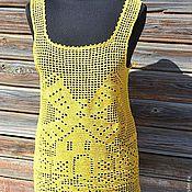 """Одежда ручной работы. Ярмарка Мастеров - ручная работа Топ  вязаный """"Желтая мельница """". Handmade."""