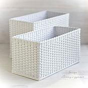 Для дома и интерьера ручной работы. Ярмарка Мастеров - ручная работа Набор плетеных корзин для ванной. Handmade.