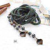 Украшения handmade. Livemaster - original item Lariat of beads mother-of-Pearl Heliotis. Handmade.