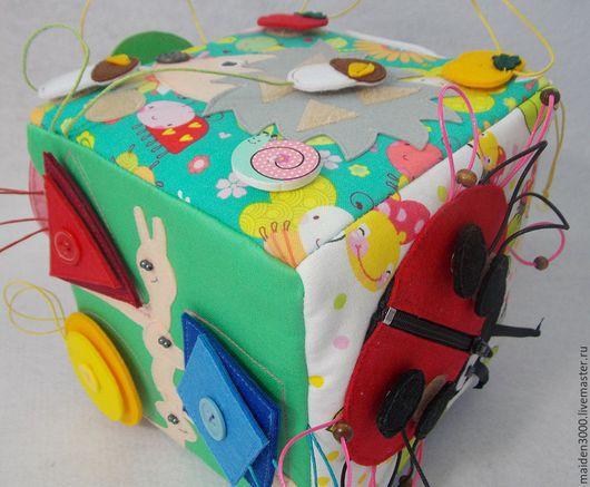 Развивающие игрушки ручной работы. Ярмарка Мастеров - ручная работа. Купить Развивающий кубик для малышей. Handmade. Развивающая игрушка, фетр