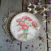 """Посуда ручной работы. Ярмарка Мастеров - ручная работа """"Букетик Маргариток"""" Деревянная тарелка. Handmade."""
