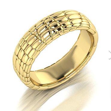 Украшения ручной работы. Ярмарка Мастеров - ручная работа Кольцо «Кожа» из золота. Handmade.