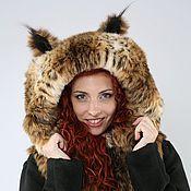 "Одежда handmade. Livemaster - original item Coat - Vest ""Lynx"" of eco- fur and alpaca. Handmade."