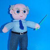 Куклы и игрушки ручной работы. Ярмарка Мастеров - ручная работа Профессор. вязаная кукла. Handmade.