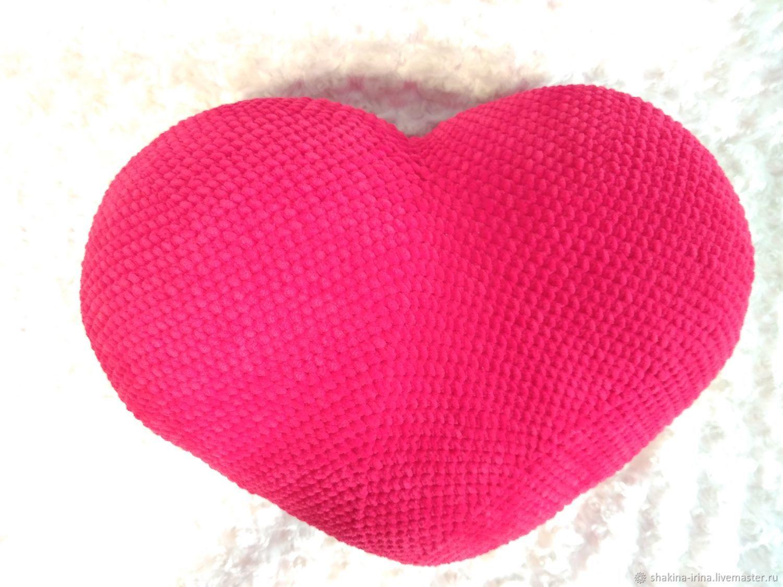 Подушка-сердце, Мягкие игрушки, Алнаши,  Фото №1