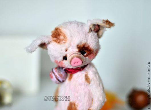 Мишки Тедди ручной работы. Ярмарка Мастеров - ручная работа. Купить поросенок Чу-Чу, коллекционная игрушка хрюша свинья. Handmade.
