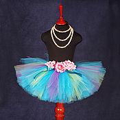 """Одежда ручной работы. Ярмарка Мастеров - ручная работа """"Бирюзовая мечта"""" пышная юбка-пачка из фатина. Handmade."""