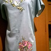 Одежда ручной работы. Ярмарка Мастеров - ручная работа Вышитая туника (китайская роза) ЖТ5-044. Handmade.