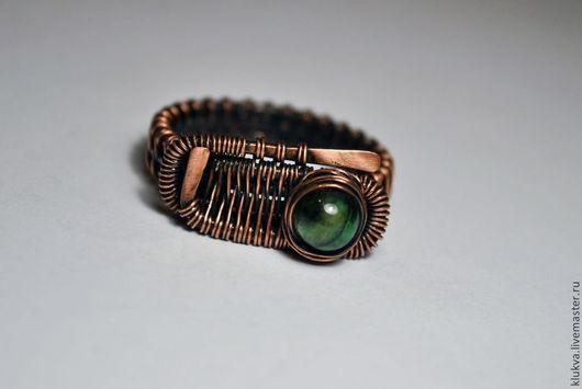 Украшения для мужчин, ручной работы. Ярмарка Мастеров - ручная работа. Купить Медное мужское кольцо ручной работы. Handmade.