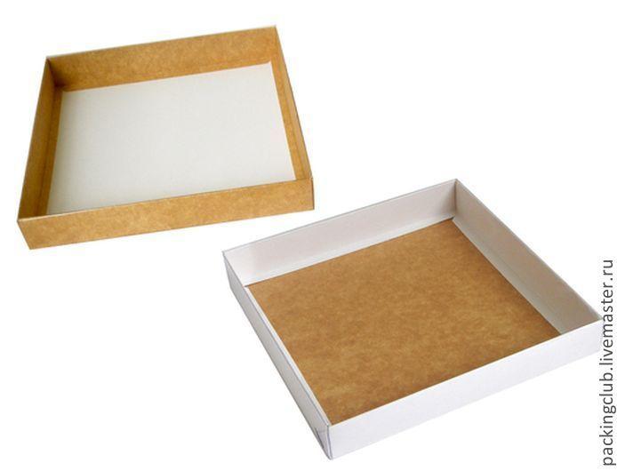 Бумажная коробка с крышкой