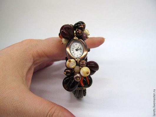Часы ручной работы. Ярмарка Мастеров - ручная работа. Купить Кофейное время Часы-браслет. Handmade. Коричневый, аромат кофе