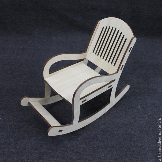 Декупаж и роспись ручной работы. Ярмарка Мастеров - ручная работа. Купить Арт. 15711 Кукольное кресло-качалка. Handmade. Кресло