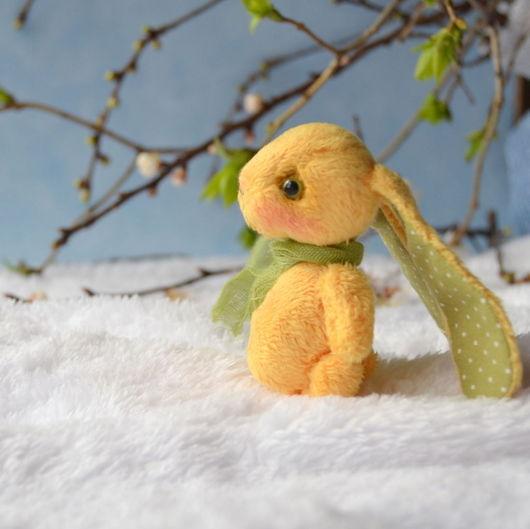 Мишки Тедди ручной работы. Ярмарка Мастеров - ручная работа. Купить Пасхальный кролик Василий. (6,5 см). Handmade.