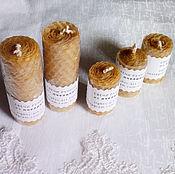 Свечи ручной работы. Ярмарка Мастеров - ручная работа Свечи из вощины поштучно. Handmade.