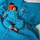 """Пледы и одеяла ручной работы. Ярмарка Мастеров - ручная работа. Купить Плед в кроватку """"Морской прибой"""". Handmade. Тёмно-бирюзовый"""