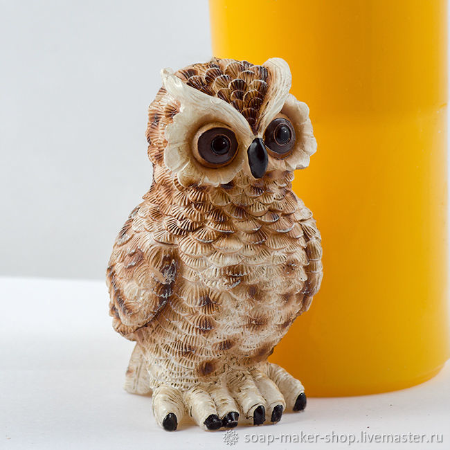 Silicone mold for soap 'Big owl 3D', Form, Shahty,  Фото №1