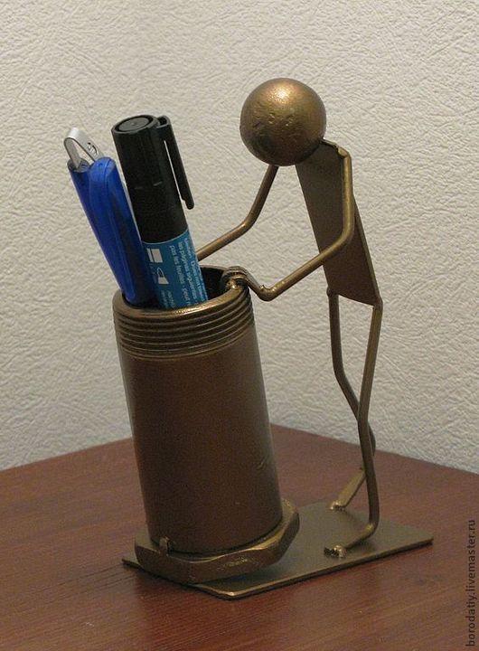 Карандашницы ручной работы. Ярмарка Мастеров - ручная работа. Купить Карандашница.. Handmade. Золотой, стойка, бронза, металл