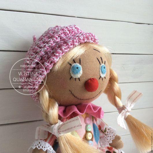 Коллекционные куклы ручной работы. Ярмарка Мастеров - ручная работа. Купить Клоунесса Pink. Handmade. Разноцветный, кукла ручной работы