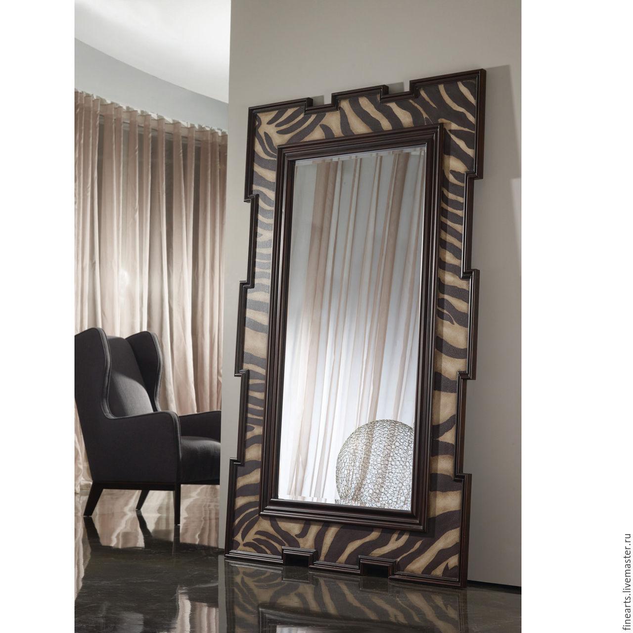 764217a25bb8 Зеркала ручной работы. Ярмарка Мастеров - ручная работа. Купить  Дизайнерское напольное зеркало в раме ...