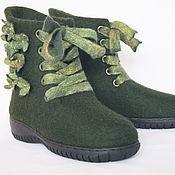 """Обувь ручной работы. Ярмарка Мастеров - ручная работа Валенки-ботинки """"Зимний лес"""".. Handmade."""