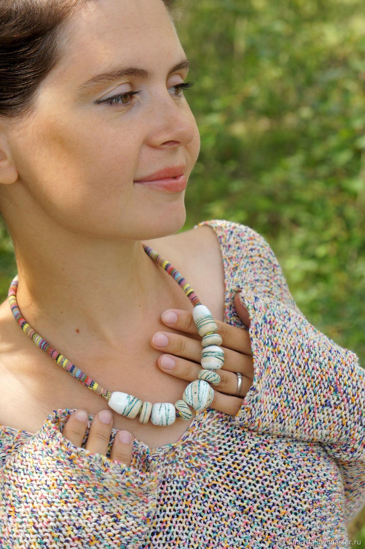 Ceramic beads on a decorative cord, Jewelry Sets, Severobaikalsk,  Фото №1