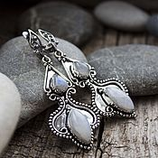 Украшения handmade. Livemaster - original item Earrings with moonstone (adular)