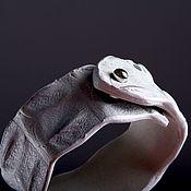 handmade. Livemaster - original item Crocodile leather bracelet IMA0330W3. Handmade.