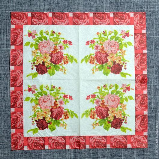 СФ-335309. Салфетки бумажные `Розовой букет`