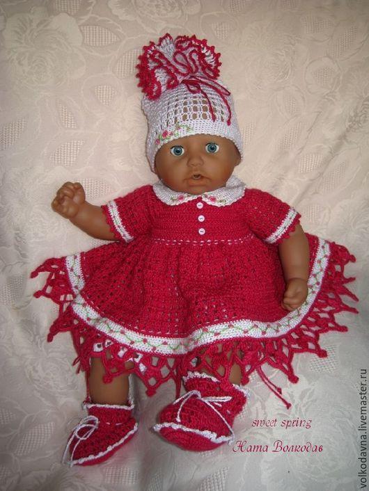 Одежда для кукол ручной работы. Ярмарка Мастеров - ручная работа. Купить Sweet Spring. Комплект одежды для куклы.. Handmade. Брусничный