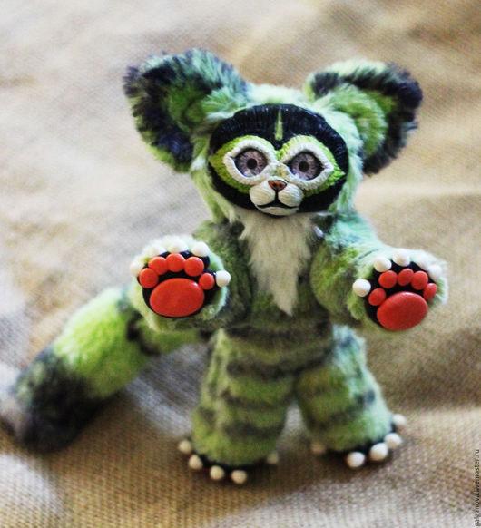 Игрушки животные, ручной работы. Ярмарка Мастеров - ручная работа. Купить Муррр!!! Зеленый кот. Handmade. Зеленый цвет