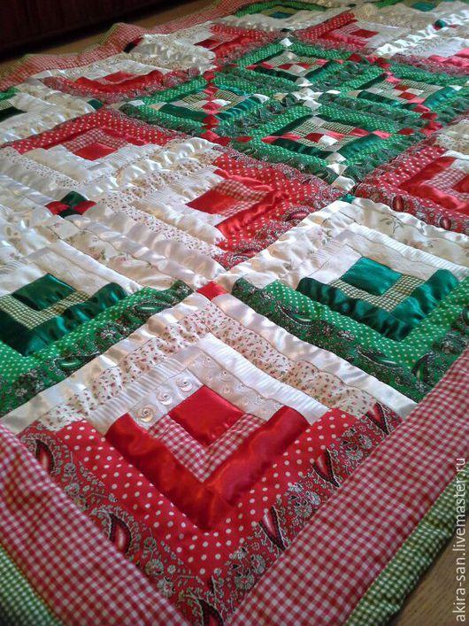 Текстиль, ковры ручной работы. Ярмарка Мастеров - ручная работа. Купить Лоскутное одеяло Зимний праздник. Handmade. русский стиль
