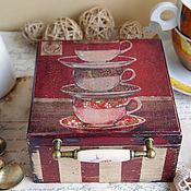 Для дома и интерьера ручной работы. Ярмарка Мастеров - ручная работа Чашечки. Чайный короб. Handmade.